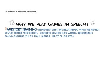 Why We Play Games In Speech!