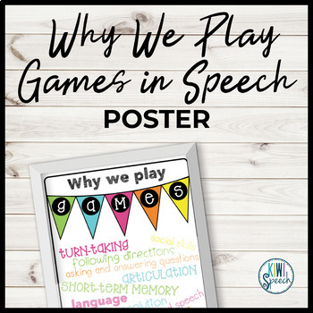 Why We Play Games in Speech Poster {Brights}