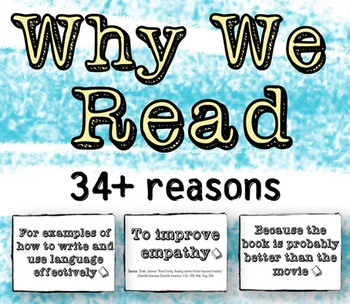 Why We Read: 34+ Reasons to Read