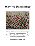 Why We Remember - Remembrance Day - Veterans Day Assembly