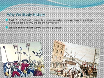 Why We Study History Lecture