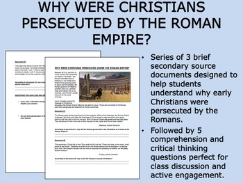 Why Were Christians Persecuted by the Romans? - Global/Wor