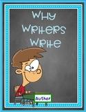 Why Writers Write - Author's Purpose SMARTBOARD