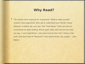 Why You Should Read, A motivational presentation on the importance of reading