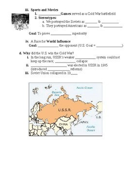 Why a Cold War Guided PowerPoint Lecture Notes