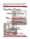 Why a Standardized Core Curriculum