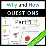 Why and How Question Cards Bundle! Distance Learning