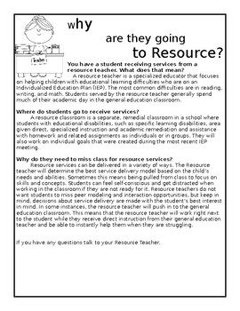 Why are they going to Resource?