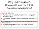 Why did Franklin D Roosevelt win the 1932 Presidential election?