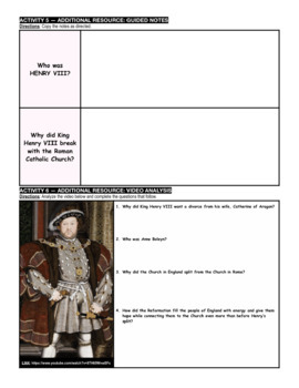 Why did King Henry VIII break with the Roman Catholic Church?