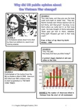 Why did US public opinion turn against the Vietnam War by 1968? Worksheet DBQ