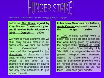Why did suffragettes go on hunger strike in prison - campaign for the vote