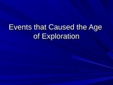 Why did the Age of Exploration Happen?