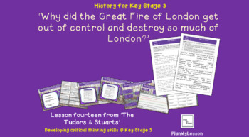 Why did the Great Fire of London get out of control & destroy so much of London?