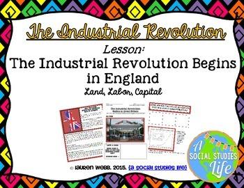 Industrial Revolution Begins in England - Land, Labor, Capital