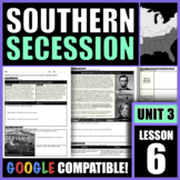 Why did the South secede from the Union after the election