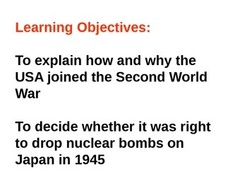 Why did the USA use the atomic bomb in 1945