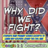 Why did we fight? Exploring investigate the reasons for fighting the Civil War!
