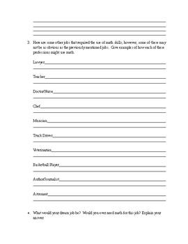 Why do I need math worksheet