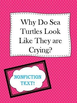 Why do Sea Turtles Look Like They are Crying?