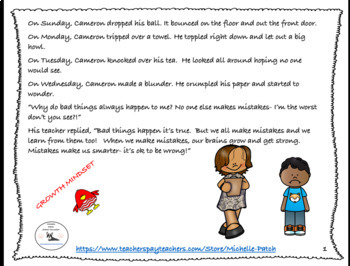 Why do bad things always happen to me? Character Education lesson Growth Mindset