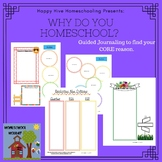 Why do you Homeschool? Guided Journaling Pages