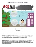 Why is Acid Rain a Menace to Society? Science DBQ (Argument Writing)