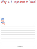 Why is it Important to Vote - Writing paper