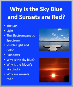 Why is the Sky Blue? Why are Sunsets Red? - PowerPoint Inquiry Lesson