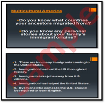 Why is the USA Diverse? Lesson-(immigration, diversity, and multiculturalism)