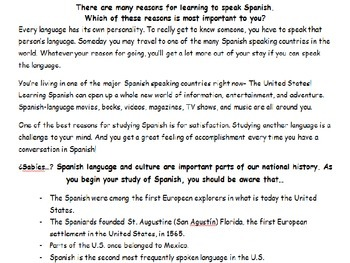 Why learn Spanish PowerPoint