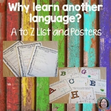 Why learn a foreign language A to Z List and Posters