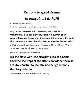 Why study French?