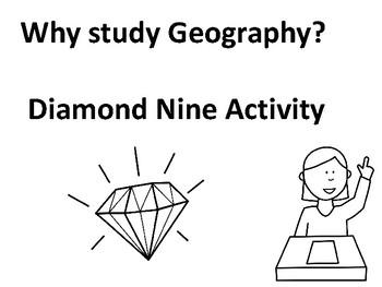 Why study Geography Diamond Nine Activity