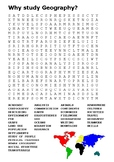 Why study Geography Word Search