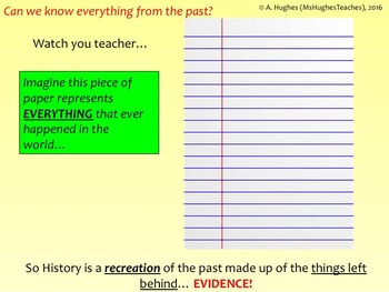 Why study History? - Back to School Lesson