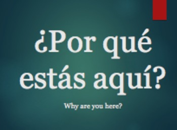 Why study Spanish? First day PowerPoint