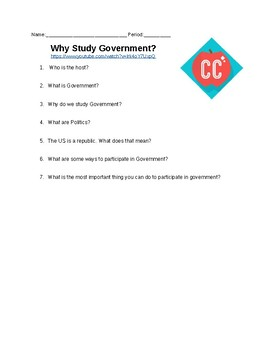 Why study government? Crash Course Questions