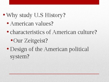 Why study history and why study US History powerpoint