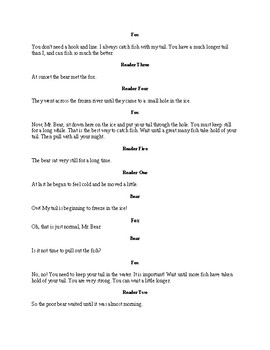 Why the Bear's Tail is Short - Readers Theater Folk Tale