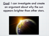 Why the Sun appears Brighter than other Stars - Powerpoint