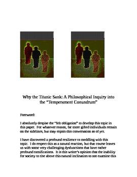 """Why the Titanic Sank... the Temperament Conundrum"" [*New Book Trailer]"