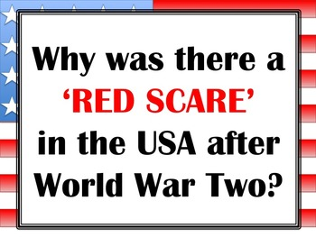 Why was there a 'Red Scare' in the USA after World War 2?
