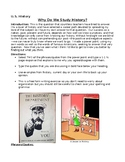 Why we study history opening writing assignment