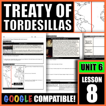 How did the Treaty of Torsedillas affect South America?