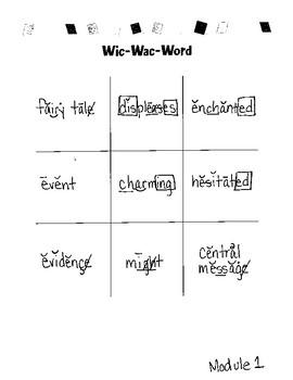 Wic-Wac-Word. Fluency Vocab. Game