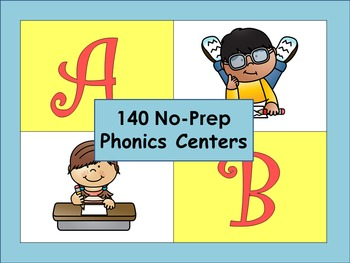 No-Prep Kindergarten Literacy Centers: Letters and Consona
