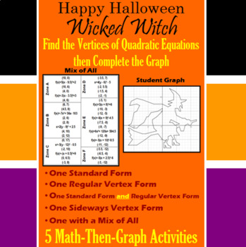 Wicked Witch - Finding Vertices - 5 Math-Then-Graph Activities