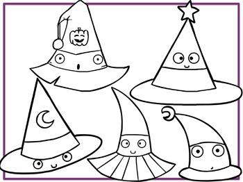 Witch Hats (Digital Clip Art) FREEBIE!