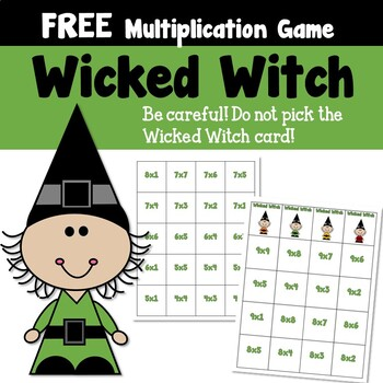 Wicked Witch Multiplication Game